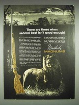 1970 Weatherby Magnum Rifle Ad - 2nd Isn't Good Enough - $14.99
