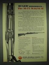 1970 Ruger M-77 Magnum Rifle Ad - $14.99