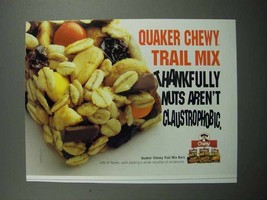 2004 Quaker Chewy Trail Mix Bars Ad - $14.99