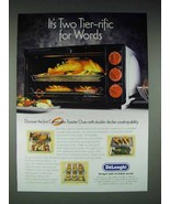 1997 DeLonghi Airstream Convection Toaster Oven Ad - $14.99