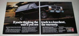 1986 Dodge Ramcharger Truck Ad - A Knockout - $14.99