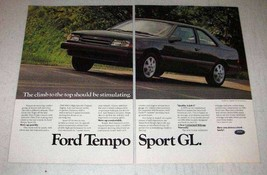 1986 Ford Tempo Sport GL Car Ad - Climb to the Top - $14.99