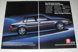 1986 Dodge Shadow Car Ad - How To Treat Your Family - $14.99
