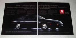 1987 Dodge Daytona Pacifica Car Ad - $14.99