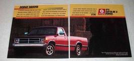 1987 Dodge Dakota Pickup Truck Ad - $14.99