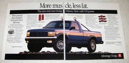 1991 Dodge Dakota 4x4 Sport Pickup Truck Ad - Muscle - $14.99