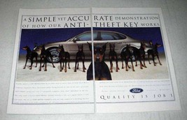 1997 Ford Motor Company Ad - A Simple Demonstration of Anti-Theft Key - $14.99