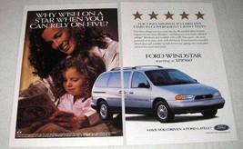 1997 Ford Windstar LX Minivan Ad - Why Wish on Star? - $14.99
