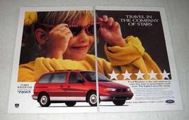 1997 Ford Windstar LX Minivan Ad - Company of Stars - $14.99