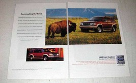 1999 Ford Explorer Ad - Dominating the Field - $14.99