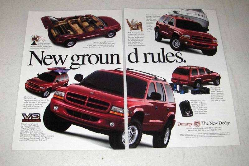 Primary image for 1998 Dodge Durango Ad - New Ground Rules