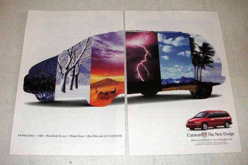 Primary image for 1998 Dodge Caravan Minivan Ad - The New Dodge
