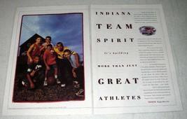 1998 Toyota Car Ad - Indiana Team Spirit - $14.99
