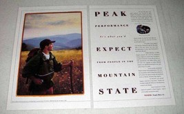 1998 Toyota Car Ad - Peak Performance In Mountain State - $14.99