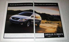 1999 Chrysler / Plymouth Minivan Ad - Uncharted - $14.99