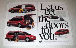 2001 Dodge Grand Caravan Minivan Ad - Get the Doors - $14.99