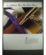 1988 Louis Vuitton Pen Ad - Paris, New York, Tokyo - $14.99