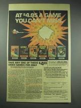 1983 Columbia Video Game Club Ad - Donkey Kong, Zaxxon - $14.99