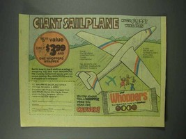 1979 Leaf Whoppers Candy Ad - Giant Sailplane - $14.99