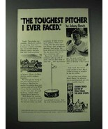 1978 Fonas Johnny Bench Batter Up Ad - Toughest Pitcher - $14.99