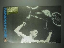 1989 Schwinn Bicycle Ad - Pro BMX, Racing, Freestyle - $14.99