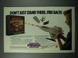 1987 Mattel Captain Power Game Ad - Fire Back! - $14.99