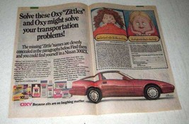 1987 Oxy Acne Products Ad - Zittles - Nissan 300ZX car - $14.99