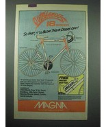 1987 Magna Outrageous 18 Speed Bicycle Ad - So Fast! - $14.99