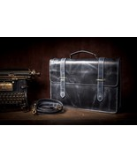 Personalized Genuine Leather Mens Briefcase Laptop Business Bag - $179.00