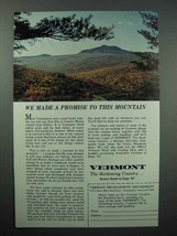 1967 Vermont Tourism Ad - Camel's Hump Mountain - $14.99