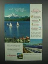1956 Oregon Tourism Ad - Elk Lake, South Sister Peak - $14.99