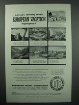 1957 European Travel Commission Tourism Ad - Highlights - $14.99