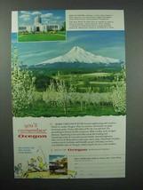 1956 Oregon Tourism Ad - Mt. Hood - $14.99