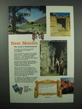 1956 New Mexico Tourism Ad - Kit Carson's Cave - $14.99