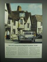 1956 Britain Tourism Ad - Bed and Gargantuan Breakfast - $14.99