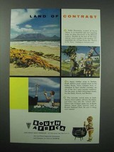 1956 South Africa Tourism Ad - Contrast - $14.99