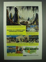 1955 New Mexico Tourism Ad - Exciting as A Foreign Land - $14.99