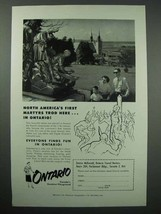 1955 Ontario Canada Tourism Ad - First Martyrs Trod - $14.99