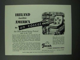 1955 Ireland Tourism Ad - Invites America to An Tostal - $14.99
