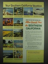 1954 Southern California Tourism Ad - Your Vacation - $14.99