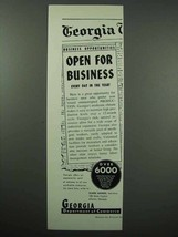 1954 Georgia Commerce Ad - Open for Business - $14.99