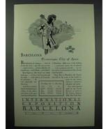 1929 International Exposition Barcelona Spain Ad - $14.99