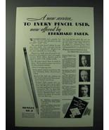 1929 Eberhard Faber Mongol No. 2 Pencil Ad - Service - $14.99