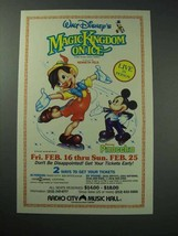 1989 Walt Disney's Magic Kingdom on Ice Ad - $14.99
