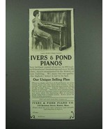 1913 Ivers & Pond Cottage Upright Piano Ad - $14.99
