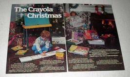 1977 Crayola Craft Home Art Studio Ad - Christmas - $14.99