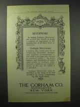 1914 Gorham Silver Ad - Silverware - $14.99