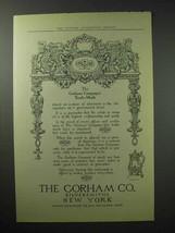 1914 Gorham Silver Ad - The Trade-Mark - $14.99