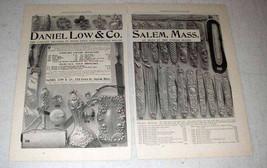 1898 Daniel Low & Co. Silver Silverware Ad - $14.99