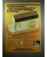1979 Singer Creative Touch Fashion Sewing Machine Ad - $14.99